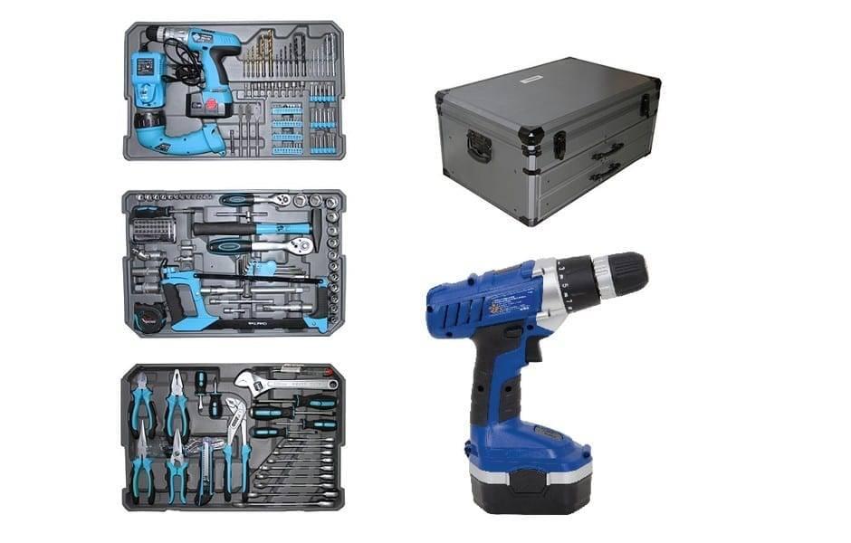 Mala KRAFT conjunto 206 peças de ferramentas profissionais