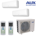 Climatiseur bi split réversible AUX unités 2 X 2.5 KW 5.1 KW