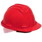 Casque de protection plastique, rouge
