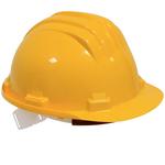 Casque de protection plastique couleur jaune