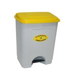 Poubelle avec pédale jaune 35 litres Leiriplás