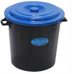 Panier poubelle multi-usage 50 litres bleu Leiriplás®
