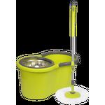 Conjunto de balde e esfregão giratório 360 ° Rotation Green - Cenocco CC-9057