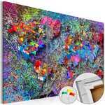 Quadro de cortiça - Redemoinho colorido - Mapa de Cortiça