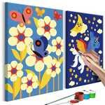Imagem para colorir - unicórnio e borboleta