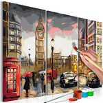 Imagem para colorir - rua de Londres