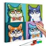 Imagens para colorir - gatos de óculos