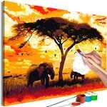 Colorir Foto - África ao pôr do sol