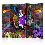 Tela - Grafite - Ataque colorido II - Divisórias